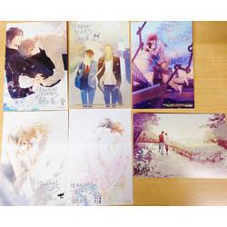 朝丘戻先生複製サイン入り 表紙イラストカード(ランダム/全6種)【デビュー15周年フェア】